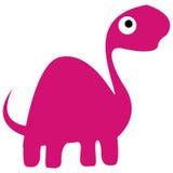 Ein Vektor-netter Karikatur-Rosa-Dinosaurier lokalisiert Lizenzfreie Stockfotos
