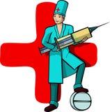 Ein vektorbild des Berufs eines Doktors Lizenzfreies Stockfoto