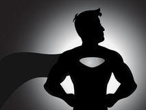 Superheld-Schattenbild-Vektor Lizenzfreie Stockfotos