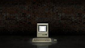 Ein veralteter Computer der alten Weinlese lizenzfreie abbildung