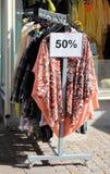 Ein Verkauf 50% weg Stockbild