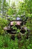 Ein verlassenes Auto Stockfoto