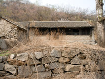 Ein verlassenes Dorf Lizenzfreie Stockfotos