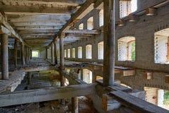 Ein verlassenes Gebäude lizenzfreie stockbilder