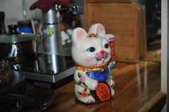 Ein Vermögens-Katze-Tee-Haustier Lizenzfreies Stockfoto