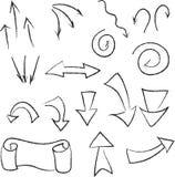 Ein verschiedener Satz Pfeile und Zeiger vektor abbildung