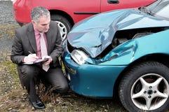 Ein Versicherungsagent. Stockbild