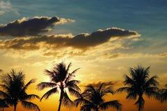 Ein versteckter Sonnenuntergang lizenzfreies stockfoto