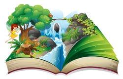 Ein verzaubertes Buch lizenzfreie abbildung