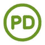 Ein vier Blatt-Klee des public- domainzeichens Stockbild