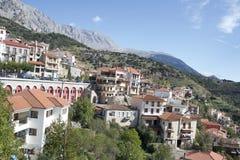 Ein Vilige von Arachova, Griechenland lizenzfreies stockbild