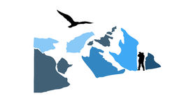 Ein Vogel in den Bergen Lizenzfreies Stockfoto