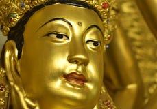 Ein volleres Gesicht von Guanyin , Guanyin, Göttin der Gnade Stockbild