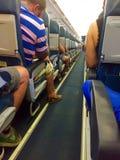Ein volles Flugzeug Lizenzfreie Stockbilder
