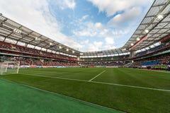 Ein volles Stadion auf russischem Team des Spiels gegen Nordirland Lizenzfreies Stockfoto