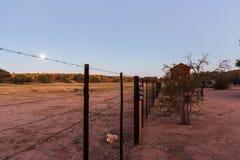 Ein Vollmond leuchtet dem Ganzen des Landes Lizenzfreies Stockbild