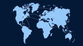 Ein wachsendes Netz über der Welt vektor abbildung