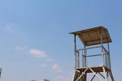Ein Wachturm am Strand Lizenzfreies Stockbild