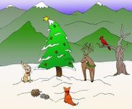 Ein Waldlandweihnachten Lizenzfreies Stockbild