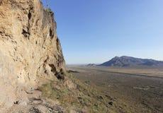 Ein Wanderer im Picacho-Spitzen-Nationalpark, Arizona stockbilder
