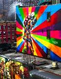 Ein Wandgemälde in New York, USA Stockbild