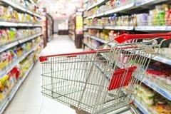 Ein Warenkorb bereit zum Kauf Lizenzfreies Stockbild