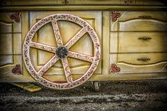 Ein Warenkorb-Rad stockbild