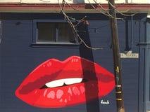 Ein was für fabelhafter und brigth Kuss mitten in einem Weg stockfotos