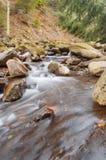 Ein Wasserfall auf einem Gebirgsfluss Stockfotografie