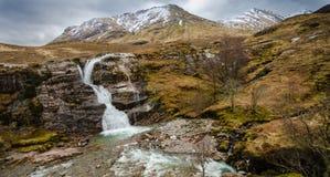 Ein Wasserfall in Glencoe lizenzfreies stockfoto