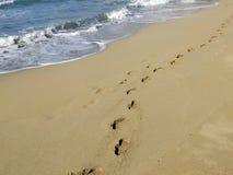 Ein Weg auf dem Strand Stockfotografie