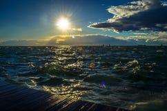 Ein Weg auf Saloniki-` s neuer Küste Lizenzfreie Stockfotografie