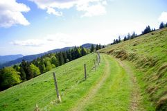 Ein Weg in den Bergen von Frankreich Stockfoto