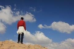 Ein Weg in den Wolken Stockbild
