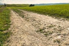 Ein Weg in der Toskana-Natur Stockfotos