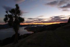 Ein Weg in Richtung zu einem Sonnenuntergang Lizenzfreie Stockfotografie