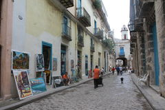 Ein Weg um das Havana Stockfotografie