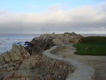 Ein Weg zum Ozean Stockbild