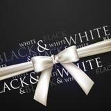 Ein weißer Bogen auf einem schwarzen Hintergrund stock abbildung