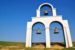 Ein weißer Glockenturm Stockfoto