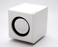 Ein weißer Lautsprecher stockfotos