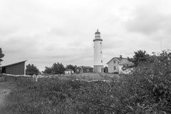 Ein weißer Leuchtturm Stockbild