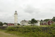 Ein weißer Leuchtturm Stockbilder