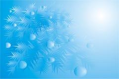 Ein Weihnachtenc$pelzbaum mit Kugeln an feierlichem N Lizenzfreie Stockfotografie