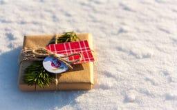 Ein Weihnachtsgeschenk Stockfoto