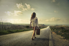 Ein weiter Spaziergang Lizenzfreies Stockbild