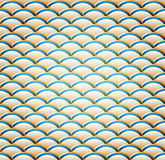 Ein wellenförmiges nahtloses Muster Lizenzfreies Stockbild