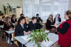 Ein Wettbewerb für die besten Teams in der Stadt von Obninsk, Kaluga-Region, Russland Lizenzfreie Stockfotos