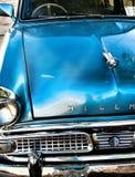 Ein wieder hergestelltes Hillman-Blauauto Lizenzfreie Stockfotografie