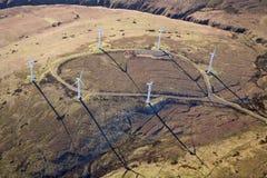 Ein Windbauernhof Stockbild